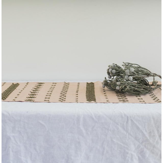 This table is a beautiful work of art, meticulously hand-brocaded on a backstrap loom made from a series of sticks and...