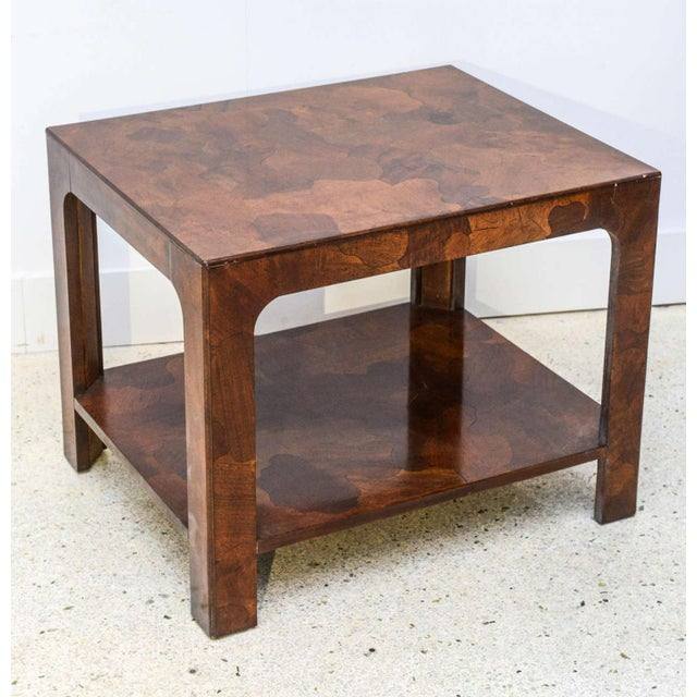 Mid-Century Modern American Modern Inlaid Mixed Wood Table, American of Martinsville For Sale - Image 3 of 9