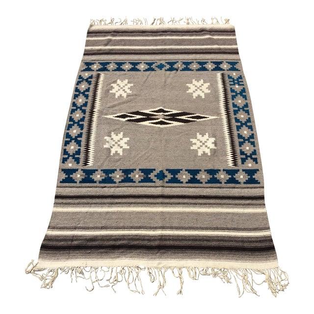 """Vintage Navajo Style Blanket Rug - 4'9"""" X 9"""""""