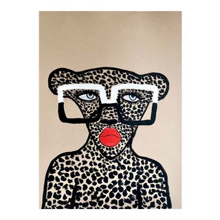 Bold Frames Cheetah Painting For Sale