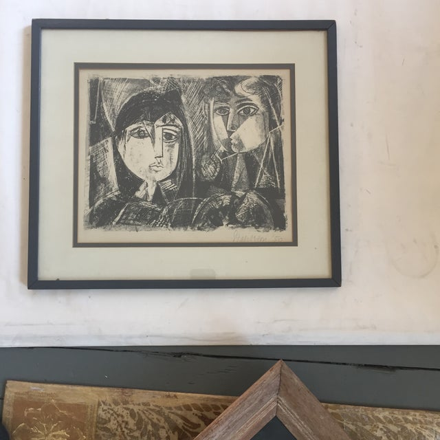 Paper Vintage Picasso Style Lithograph For Sale - Image 7 of 7