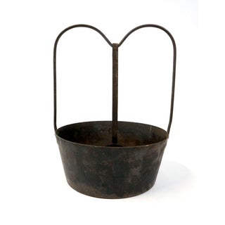 1900s Americana Wrought Iron Pot With Ladle Preview