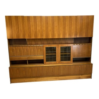 Diekwish German Veneer Modular Wall Unit For Sale