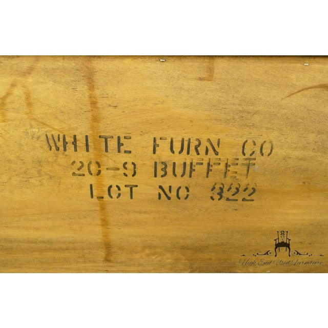 """20th Century French Country White of Mebane Lorraine Collection 80"""" Buffet For Sale - Image 12 of 13"""