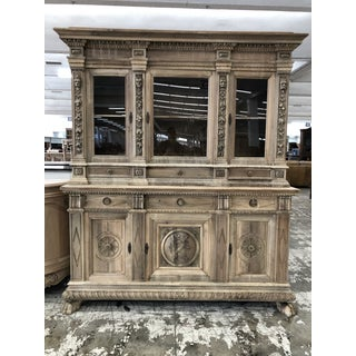 19th. Century Italian Renaissance Carved Walnut Hutch Preview