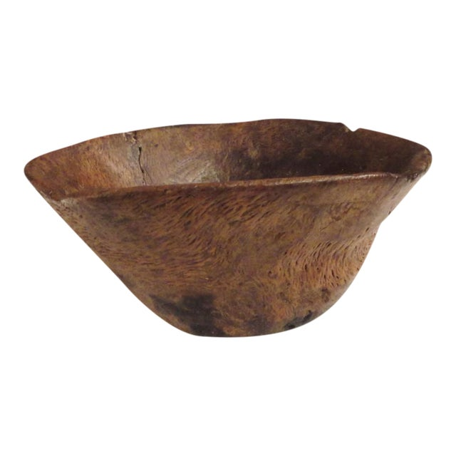 Fantastic Early 18th Century Indian Burl Bowl For Sale