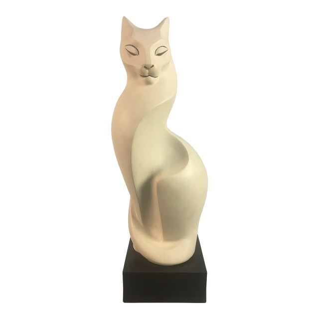 1980s Mid-Century Style Cat Sculpture For Sale