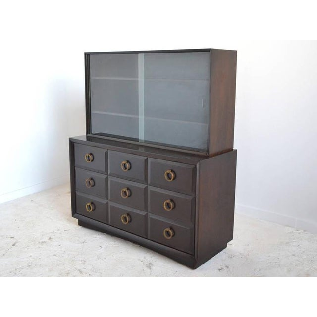Widdicomb Cabinet with Brass Pulls For Sale In Chicago - Image 6 of 7