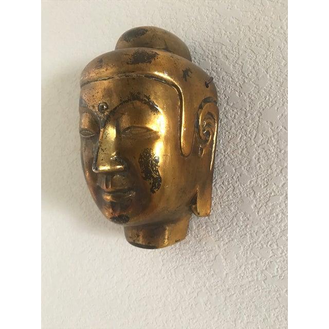 Vintage Gold Leaf Buddha Head - Image 4 of 5
