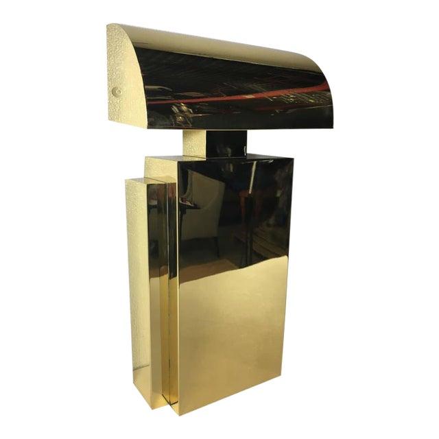 Karl Springer Style Brass Tabel Lamp For Sale