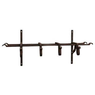 Wrought Iron Hook and Shelving Unit For Sale