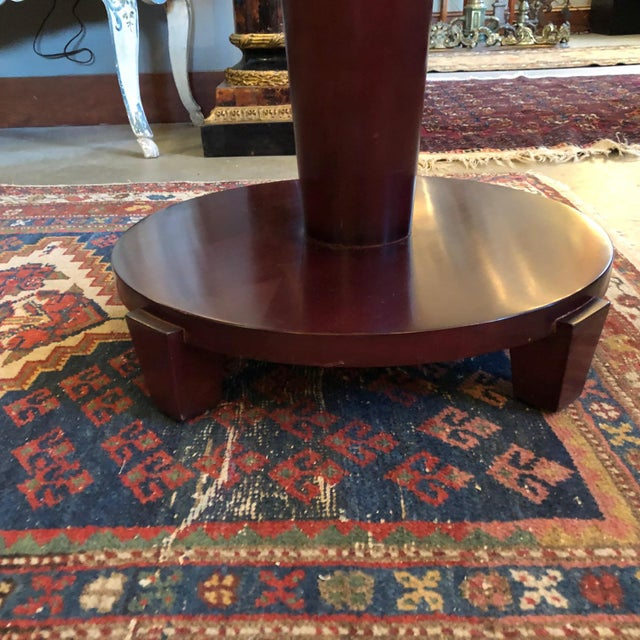 Swaim 1980s Traditional Swaim Furniture Two-Tiered Round Center Table For Sale - Image 4 of 10