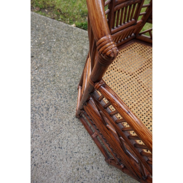 Brown Chinese Chippendale Bamboo Brighton Pavilion Chairs - a Pair For Sale - Image 8 of 13