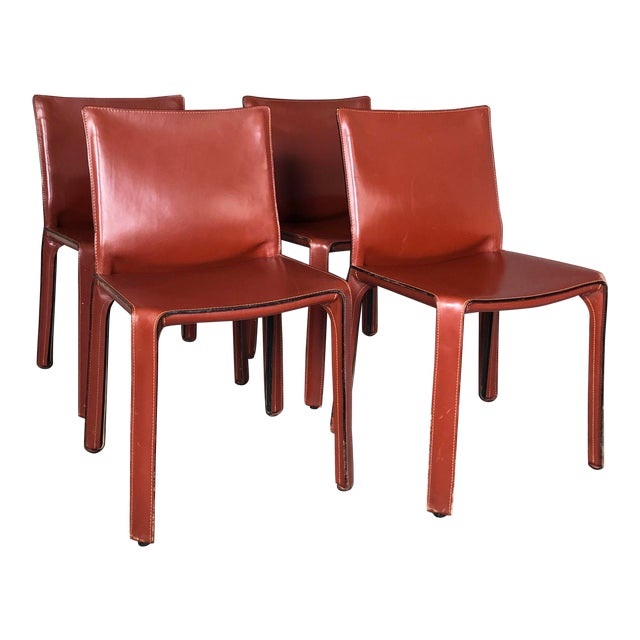 Cab Dining Chairs by Mario Bellini for Cassina - Set of 4 For Sale