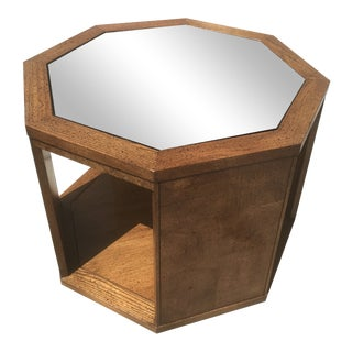 1960s Milo Baughman for Directional Mirrored Walnut Octagonal Side Table For Sale