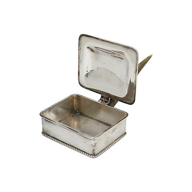 Vintage Stag Horn & Silver-Plate Silent Butler For Sale - Image 4 of 5