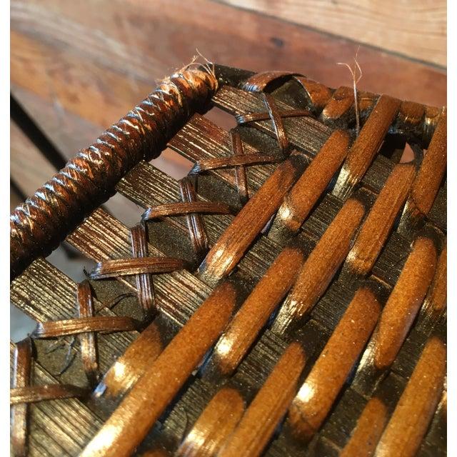 Arthur Umanoff Arthur Umanoff Wrought Iron & Wicker Counter Height Bar Stools - Set of 4 For Sale - Image 4 of 11