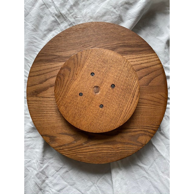 1960s Mid Century Modern Teak Lazy Susan With Gold Rooster For Sale In New York - Image 6 of 10