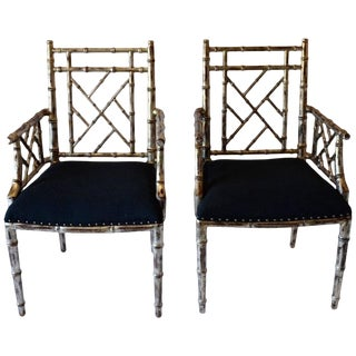 1990s Vintage Bamboo Armchairs - a Pair For Sale