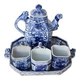 Image of Antique Early 20th Century Chinese Porcelain Tea Set-Set of 5 For Sale