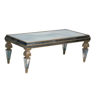 Circa 1950 Mid-Century Mirrored Table For Sale
