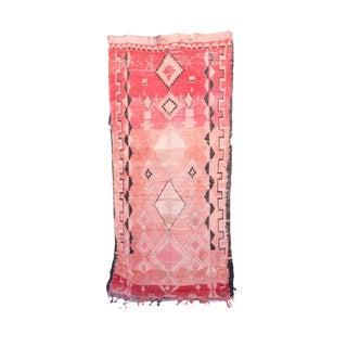 """Boujad Vintage Moroccan Rug, 5'1"""" X 10'2"""" Feet"""
