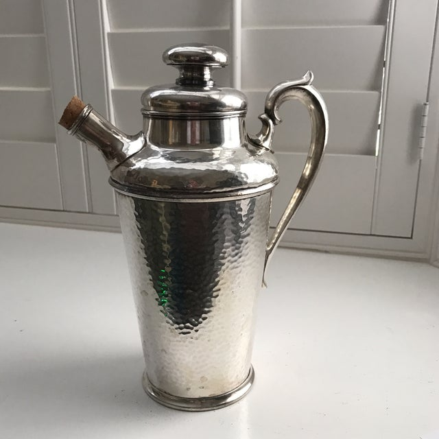 International Silver Co. Hammered Cocktail Shaker - Image 2 of 10