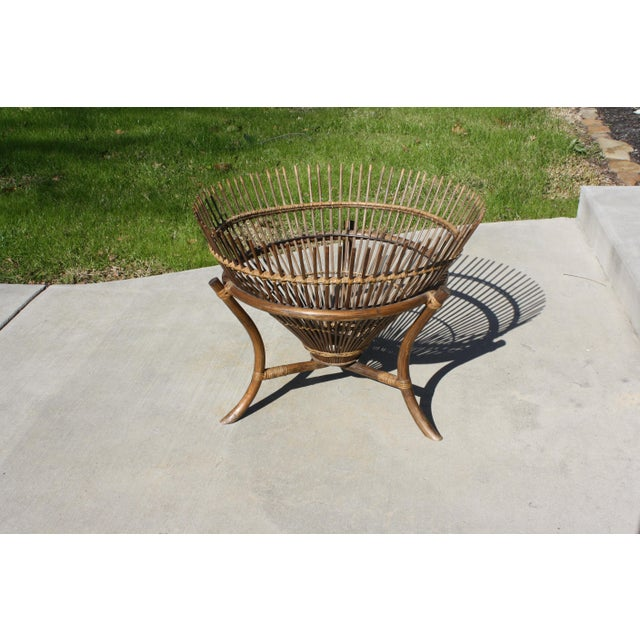 Vintage Franco Albini Style Fish Trap Side Table For Sale - Image 11 of 13