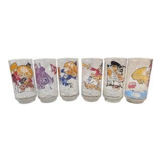 Vintage Collectors Series McDonald Glasses Set of 6 For Sale