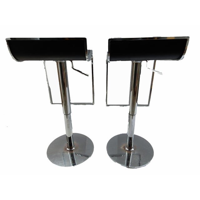 Chrome Swivel Counter Stools - A Pair - Image 2 of 6