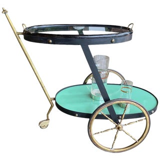 Cesare Lacca Rare Oval Bar Cart, Italy, 1955 For Sale