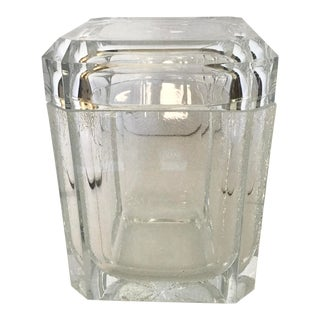 Modern Lucite Ice Bucket For Sale