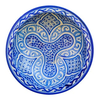 Blue Ceramic Plate WithMotif For Sale