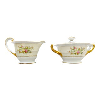 Noritake Nanarosa China Sugar & Cream Set For Sale
