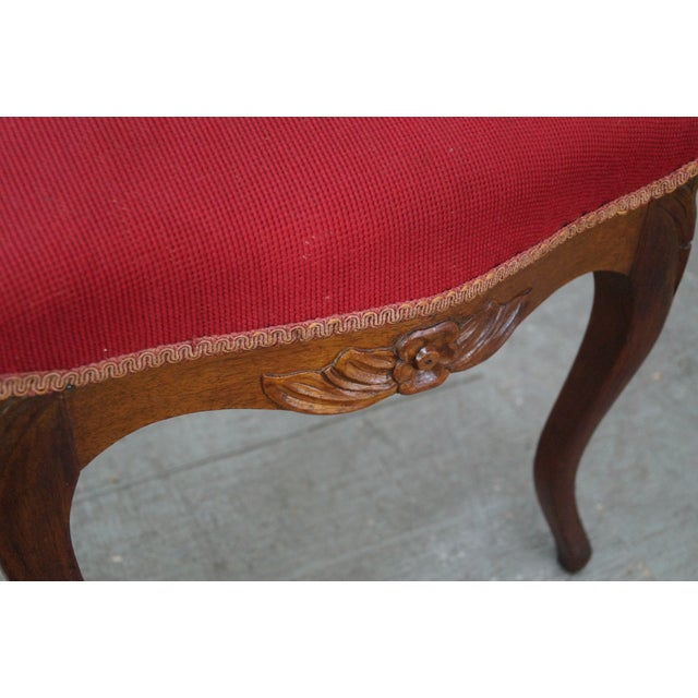 Antique Victorian Walnut Side Chair - Image 9 of 10
