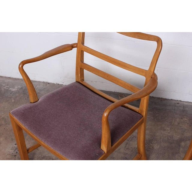 Set of Eight Dining Chairs by Edward Wormley for Dunbar For Sale In Dallas - Image 6 of 10