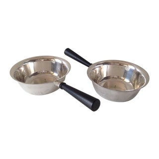 Sheffield Silverplate Sauce Servers - A Pair For Sale