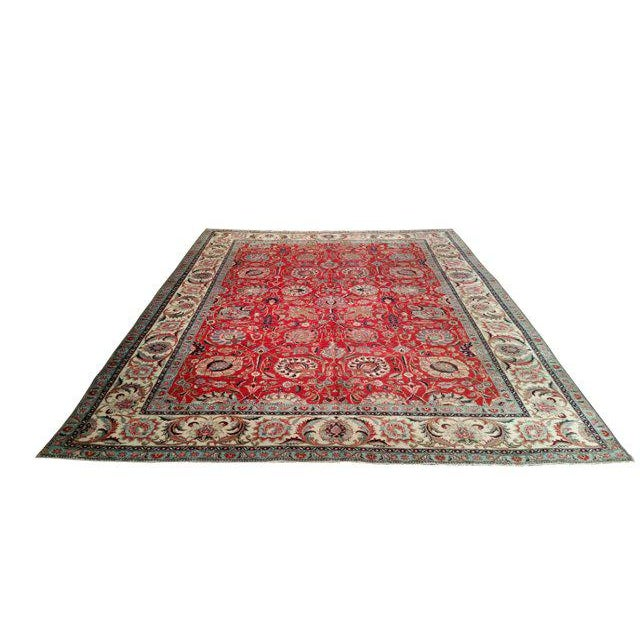 10′1″ X 13′2″ Persian Handmade Knotted Rug - Size Cat. 10x13 10x14 - Image 2 of 4
