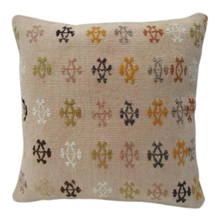 Vintage Handmade Kilim Pillow For Sale