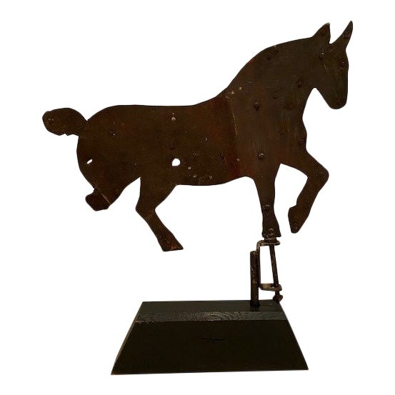 Early 20th Century Antique Horse Weather Vane For Sale