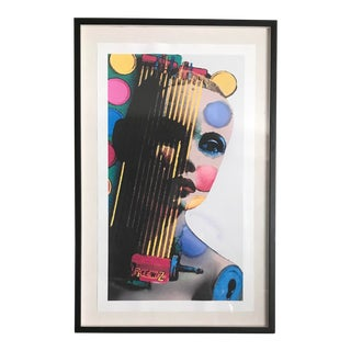 Portrait in Dots Numbered and Signed Framed Print - Stern 1/15