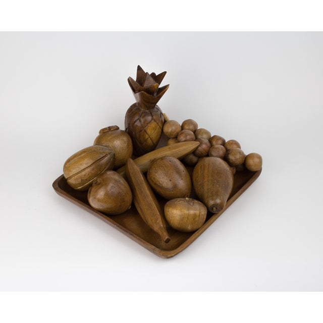 Mid-Century Modern Wooden Fruit Bowl & Figurines - Set of 11 For Sale - Image 9 of 9
