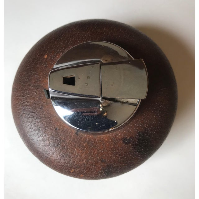 Italian 1980s Vintage Gucci Spherical Leather Lighter For Sale - Image 3 of 8