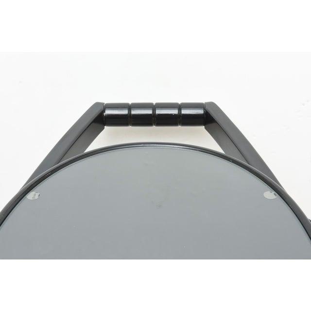 Wood Art Deco Moderne Ebonized Sculptural Bar Cart or Trolley For Sale - Image 7 of 10