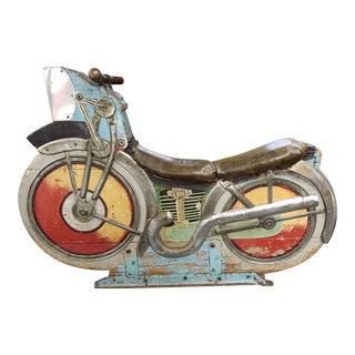 1930's American Amusement Park Carousel Motorcycle Ride For Sale