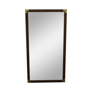 Henredon Vintage Campaign Style Mirror For Sale