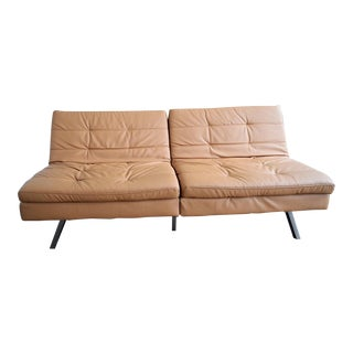Camel Double Cushion Futon Sofa Bed
