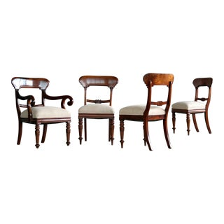 Rococo Dining Chairs Set of Four For Sale