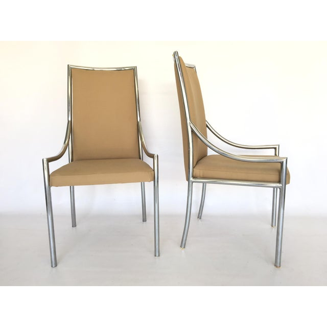 Chrome Dining Chairs After Milo Baughmann - A Pair - Image 2 of 7