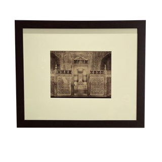 Antique Photograph of the Interior of the Taj Mahal For Sale